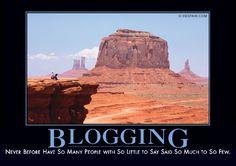 Blogging Demotivator