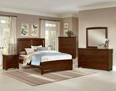 Transitions Dark Cherry Panel Bed