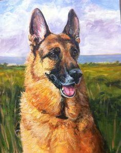 Custom oil portrait of your dog cat horse bird by bmacdonaldstudio