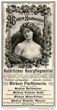 Original-Werbung/Inserat/ Anzeige 1906 - DR. DRALLE'S BIRKEN-HAARWASSER - ca. 180 X 90 mm