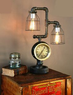 Machine Age Lamps Steampunk Gear Steam Gauge -