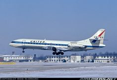 United Airlines, Sud SE-210 Caravelle VI-R (N1005U) at Columbus (KCMH) Ohio, February 1967