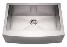 Whitehaus WHNCMAP3021 Stainless Steel 30'' Arched ApronFront Kitchen Sink at bluebath.com
