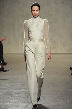 Doo.Ri - The silhouette is like silver screen Hollywood, but the sweater sleeves are a more modern touch.