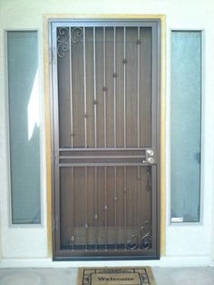Security Screen Door, Storm Door, window guards, steel window bars, designer door for AZ
