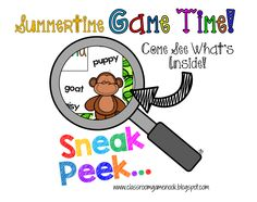 Classroom Freebies: Summertime, Game Time {Surprise Freebie Game!}
