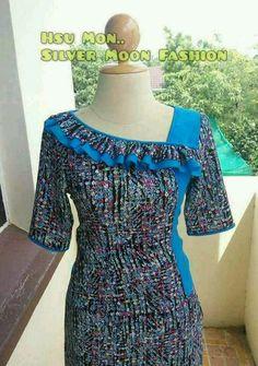 Latest Neck Design For Kurtis African Attire, African Wear, African Fashion Dresses, African Dress, Neckline Designs, Dress Neck Designs, Kurta Neck Design, Kurti Sleeves Design, Kurta Designs