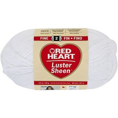 Coats Yarn Red Heart Luster Sheen Yarn White ** You can find out more details at the link of the image.Note:It is affiliate link to Amazon. #KnittingCrochet