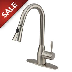 Vigo Industries VG02013STK1 Universal Stainless Steel Pullout Spray Kitchen Faucets  | eFaucets.com