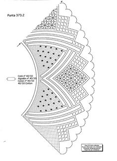 Foto: Bobbin Lace Patterns, Crochet Diagram, Lace Making, Design Elements, How To Make, Templates, Craft, Hand Fans, Cakes