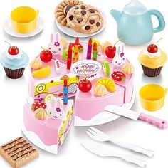 Buy 54 PCS DIY Cutting Fruit Birthday Cake Food Play Toy Set for Kids  Children Babies online at Lazada. Discount prices and promotional sale on all. Free Shipping.