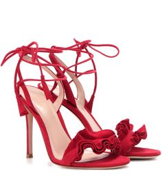 mytheresa.com - Flora绒面革凉鞋 ► Gianvito Rossi - mytheresa.com - Luxury Fashion for Women / Designer clothing, shoes, bags