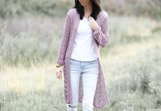 Verano Longline Cardigan Pattern – Mama In A Stitch Crochet Cardigan Pattern, Knit Crochet, Crochet Patterns, Stitch Patterns, Crochet Winter, Crochet Crafts, Crochet Ideas, Summer Cardigan, Long Cardigan