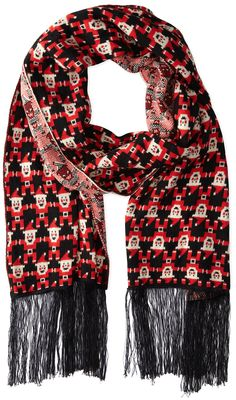 Alex Stevens Men's 8 Bit Santa Holiday Scarf, Multi, One Size Ugly Sweater, Ugly Christmas Sweater, Christmas Clothes, 8 Bit, Fashion Brands, Party Dress, Topshop, Santa, Holiday