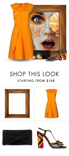 """""""Orange Fruit"""" by majezy ❤ liked on Polyvore featuring Raoul, Reiss, Aquazzura and Kate Spade"""