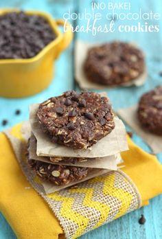 (No Bake) Double Chocolate Breakfast Cookies