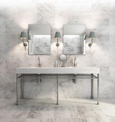Doppelwaschtisch im modernen Design #Qualität #Waschbecken #Marmor #Design #Interior #calmwaters #Home #exclusive #decor