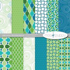 Arcadia Blue Digital Scrapbook Paper by Moo