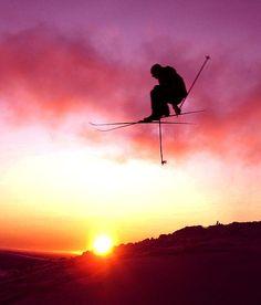 Jump over the sun. #thepursuitofprogression #Lufelive #Ski #Skiing