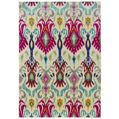 - Kaleidoscope Ivory and Red Area Rug