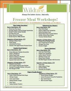 Freezer meal workshop plan