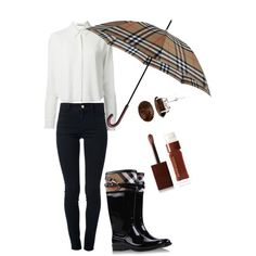 tired and not sure what to wear for school, then put on something as simple as a black and white outfit and if it's cold and rainy put on a pair of rain Boots , grab an unbrella, to spice up your outfit use a pair of stud earrings!: rainy day tip
