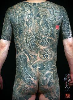 Fabulous back piece by Hori-Ai