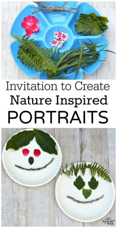 Explore your back yard and use items from nature to create a portrait. Such a fun craft for the kids!