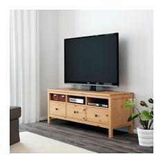 IKEA - HEMNES, Mueble TV, marrón claro,