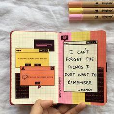 Bullet Journal Quotes, Bullet Journal Lettering Ideas, Bullet Journal Notebook, Bullet Journal Ideas Pages, Pocket Notebook, Art Journal Pages, Drawing Journal, Art Diary, Arte Sketchbook