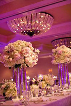 Glamorous Texas Wedding at Four Seasons from Photography by Vanessa - wedding centerpiece idea