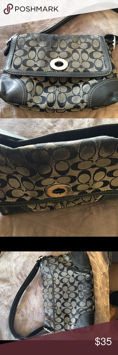 Coach Purse Black Coach purse.  This was my favorite purse.  Some wear as shown in pictures. I'm open to offers.  Authentic!!! Coach Bags