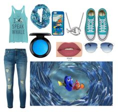 """""""Finding fashion"""" by punkie707 ❤ liked on Polyvore featuring Fifth Sun, Disney, Alex Woo, MICHAEL Michael Kors, MAC Cosmetics, Smashbox and Christian Dior"""