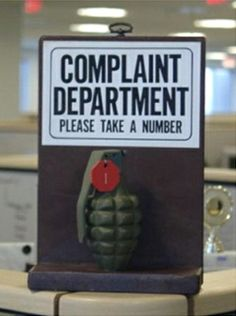 Complaint Department...