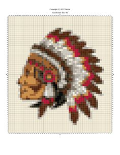 Indian cross stitch.