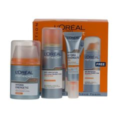 L'Oreal Men Expert Energetic Kit for Eyes & Face Plus Free Foam. L'Oreal Men Expert Energetic Kit contains 3 products to keep your face looking and feeling great.   Included in this set:       Men Expert Hydra Energetic Daily Face Anti-Fatigue Moisturising Lotion (50ml).           Men Expert Hydra Energetic Anti-Fatigue Instant Action Eye Care (15ml).     Men Expert Shave Fo...