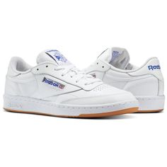 Reebok Men s Club C 85 in White Royal Gum Size 7 - Court 03d5bf423800