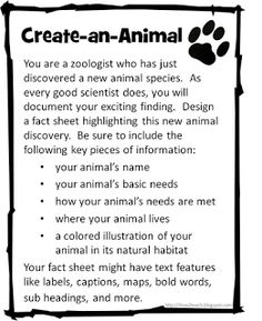 I Love 2 Teach: Create-an-Animal & Create-a-Plant {freebie}