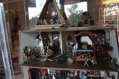 Haunted Dollhouse by jennythebloggess on flickr.  Hand-made (or repurposed).  Creepy good...