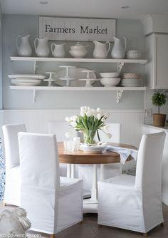 Farmhouse coastal style kitchen nook