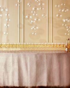 Glamorous Champagne bar