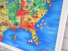 Supersized US Map Magnetic Bulletin Board by EleganceFarmHome, $299.00