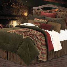 "Wilderness Ridge Comforter Set from Bed Bath & Beyond - plus lots of other great ""lodge bedding!"""
