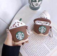 Starbucks Cappuccino AirPod Case Airpods And Generation & AirPod Pro Ca… - Phone Accessories Fone Apple, Airpods Apple, Airpod Pro, Airpod Case, Diy Phone Case, Iphone Phone Cases, Iphone 5s, Cute Ipod Cases, Cute Headphones