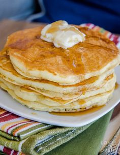 This easy fluffy pancakes recipe will convince you that homemade pancakes are just as easy and twice as delicious. The pancakes freeze wonderfully.