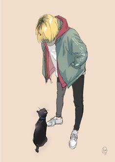 My sweet little Kenma♥️lol Kenma Kozume, Haikyuu Nekoma, Kuroken, Haikyuu Fanart, Karasuno, Kageyama, Haikyuu Anime, Relife Anime, Film Anime