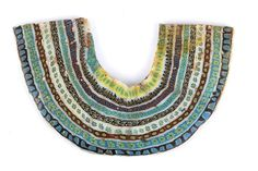 Egyptian Pectoral mosaic glass inlay Ptolemaic Period (ca. Mosaic Glass, Auction, Beaded Necklace, Jewels, Fine Art, Antiquities, Period, Bamboo, Drinkware