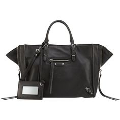 Balenciaga Papier A6 Zip Around Tote Bag ($1,550) ❤ liked on Polyvore featuring bags, handbags, tote bags, balenciaga tote, leather handbag tote, leather tote, leather zip tote and leather purses