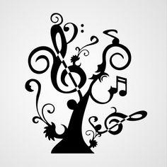 Muziek Boom - Dewiha Art - Muursjablonen en Muurstickers