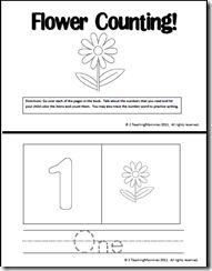 FREE Flower Counting Book-Numbers 1 to 10